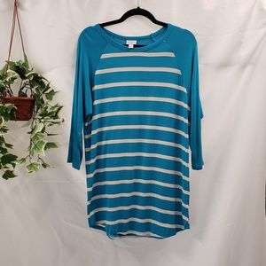 EUC LuLaRoe Striped Tunic Top